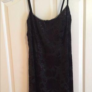 Betsey Johnson black floral evening slip dress
